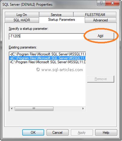denali_sql_server_startup_parameter