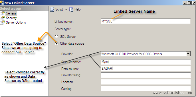 Creating Linked server to MYSQL from SQL Server – SQL-Articles