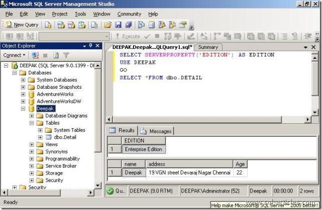 SQL Server 2005 Enterprise Evaluation Edition | SQL Server ...